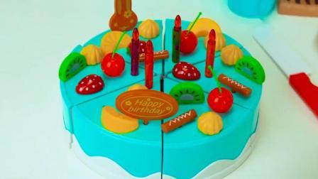水果蛋糕玩具: 制作美味的水果蛋糕跟杯子蛋糕! 愉快的下午茶!