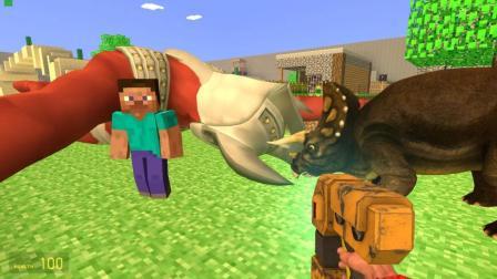 GMOD游戏奥特曼跟恐龙的角谁的比较硬