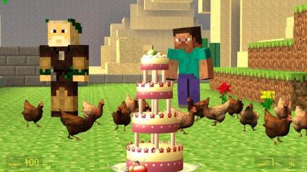 GMOD游戏村长的鸡居然会吃蛋糕