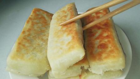 老北京名吃褡裢火烧, 色泽金黄, 外皮酥脆, 咬一口满嘴香
