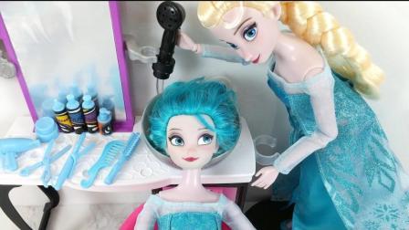给芭比娃娃染蓝色头发, 追风亲子游戏