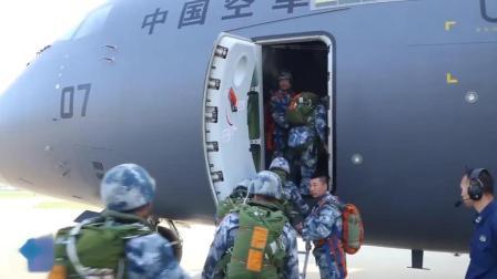 实拍: 中国运-20与空降兵部队进行空投空降任务