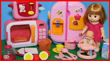 北美玩具 第一季 凯蒂猫Hello Kitty 的吐司机厨房玩具