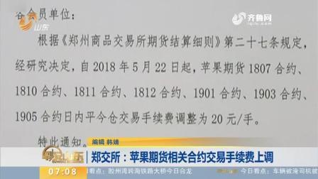 郑交所: 苹果期货相关合约交易手续费上调