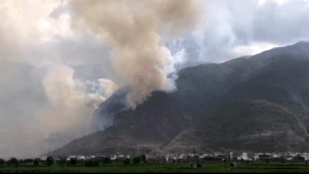 大理苍山森林大火狂烧8公顷 至20日仍未灭