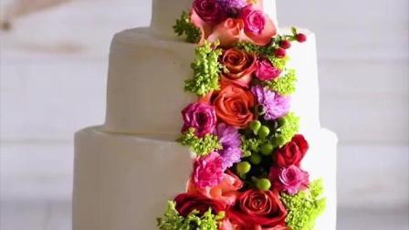 这才是婚礼上该有的蛋糕, 纯洁之中生出的璀璨