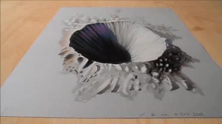 """不小心被这纸上的""""无底洞""""骗到了? 这就是3D手绘的逼真之处!"""