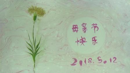 20180512母亲节康乃馨花语happy mother's day 阿夏湿拓画(ReasonSummer ebru)