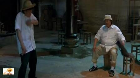 梁小龙和洪金宝切磋, 有功夫的人, 直接开打, 真材实料的打斗