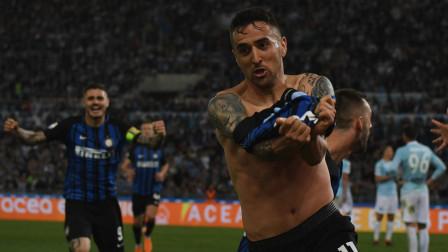意甲-二弟扳平贝西诺绝杀 国米3-2拉齐奥重返欧冠