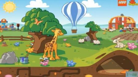 动物乐园视频动物世界玩具之乐高开托马斯小火车