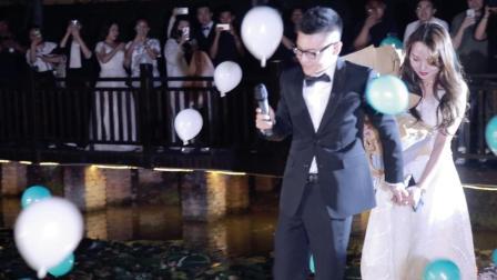 浪漫花园餐厅水上创意求婚视频