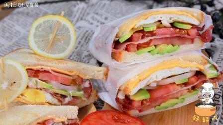 火爆ins的网红三明治, 做法超简单! #美食##烹饪#