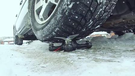高科技碳纤维无人机, 防撞防摔, 被汽车碾压都没事