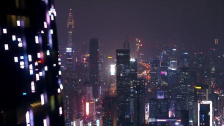 深圳福田夜景航拍 太美了