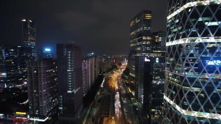 深圳南山夜景航拍 太美了
