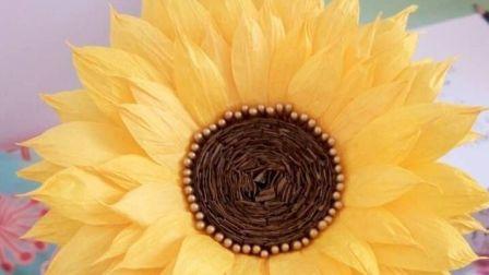 艾尚花艺原创手工  丝网花向日葵新做法