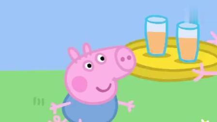 小猪佩奇: 佩奇疯狂打嗝, 被乔治和爸爸妈妈嘲笑!