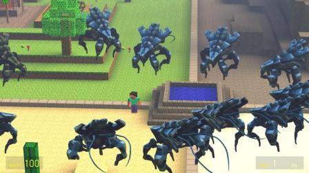 GMOD游戏史蒂夫被怪兽包围了