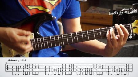 左轮电吉他教学NO.57《涅槃-少年心气》