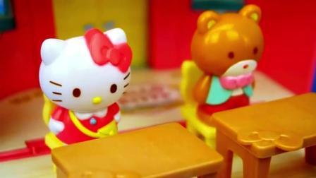 凯蒂猫和她的好朋友小熊一起学英语单词, 还要到音乐教室跳舞!