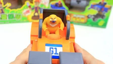 玩具大乐透熊出没之熊心归来熊二一键变形叉车 玩具介绍