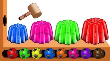 彩色果冻和足球碰碰乐