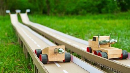 两辆车子的较量, 输了就要被淘汰!