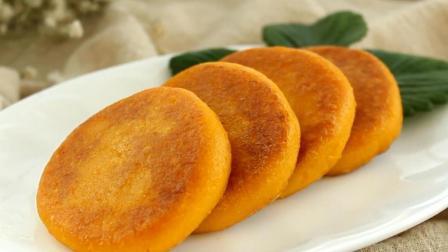 一碗糯米粉, 半个南瓜, 教你自制南瓜饼, 比油条更松软可口