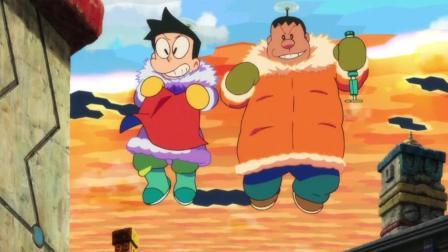大雄又成了超级英雄, 其实小夫和胖虎才是击败海妖的主角