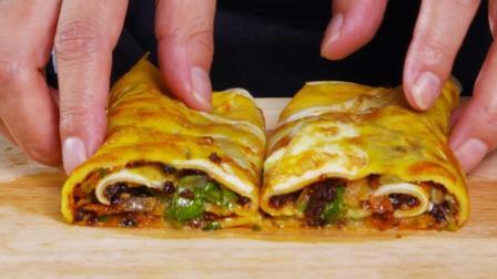 国家名厨3分钟教你做煎饼, 1个鸡蛋、半碗面粉, 早餐吃它干净卫生