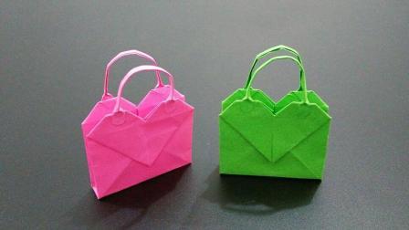 新设计的迷你爱心手提包没人会做, 做法却这么简单, 手工折纸大全
