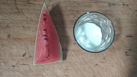 靓宝教你自制西瓜冰激凌, 方法简单, 一大杯不够我吃