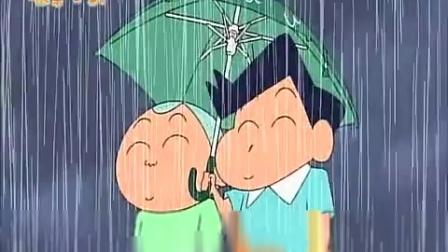 《蜡笔小新 第三季 》99集 风间和正南没想到下着大雨,小新和椎造老师还在踢足球