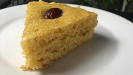这才是玉米发糕的最佳做法, 松软香甜太香了, 营养早餐不愁了