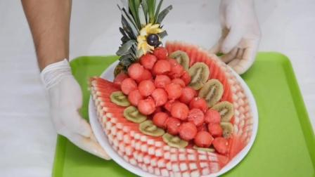 这样的创意水果拼盘是怎么做的