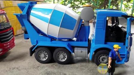 工程车大全 儿童救援车搅拌车货车玩具视频
