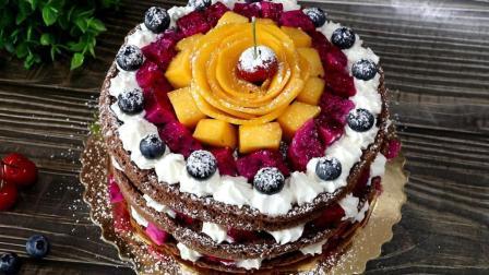 想吃蛋糕不用买, 教你在家做, 不需要裱花, 这样做好看又好吃