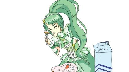 巴啦啦小魔仙贝贝公主吃自己做的蛋糕儿童卡通简笔画