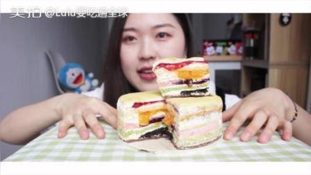 焙尔妈妈的彩虹千层蛋糕, 想一次吃到很多口味就要了彩虹的