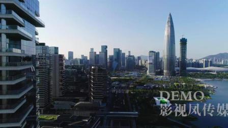 深圳航拍素材 深圳湾后海国际总部 华润总部大厦 春笋 4K航拍视频