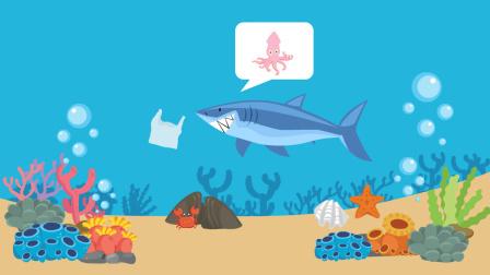 虎鲨奄奄一息 解剖后胃里竟有4个塑料袋