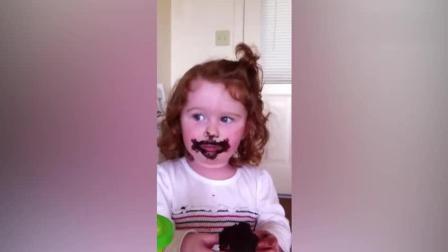 过年千万别给熊孩子吃巧克力 简直吃土现场