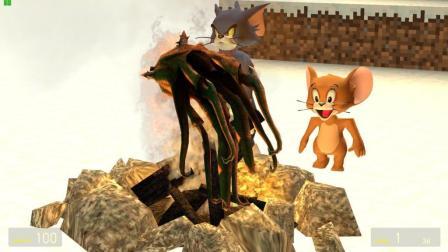 GMOD游戏汤姆猫杰瑞鼠居然烤章鱼吃