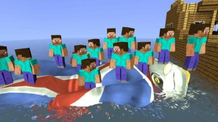 GMOD游戏奥特曼的身体能站几个史蒂夫才会沉到海底?