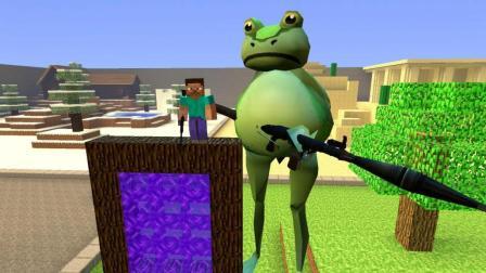 GMOD游戏从传送门走出一只拿火箭筒的巨型青蛙