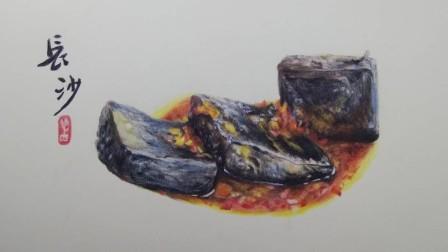 彩铅画基础教程-长沙美食之臭豆腐写实技巧2