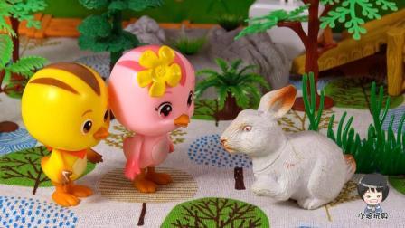 萌鸡小队小琦故事萌鸡小队麦奇和朵朵帮美佳妈妈采蘑菇