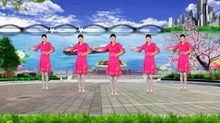 河北青青广场舞《北江美》大气悠扬, 16步简单好学