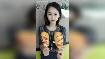 美拍视频: 黄金芝士热狗棒#吃秀#